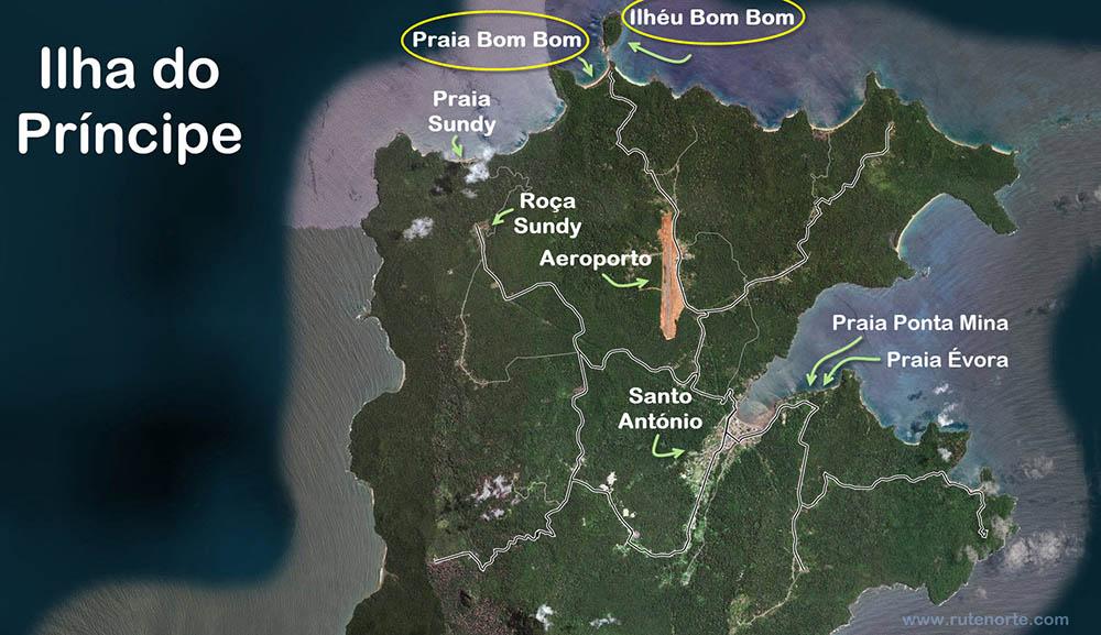 Principe Island Map